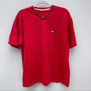Vintage Tommy Hilfiger shirt red logo large v neck